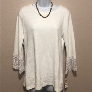 Charter Club-small off white blouse